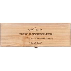 Origineel zakelijk cadeau, cadeau met logo   Luxe wijnkist graveren 1 vaks