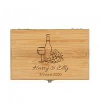 Gepersonaliseerd moederdag cadeau | Wijnset graveren