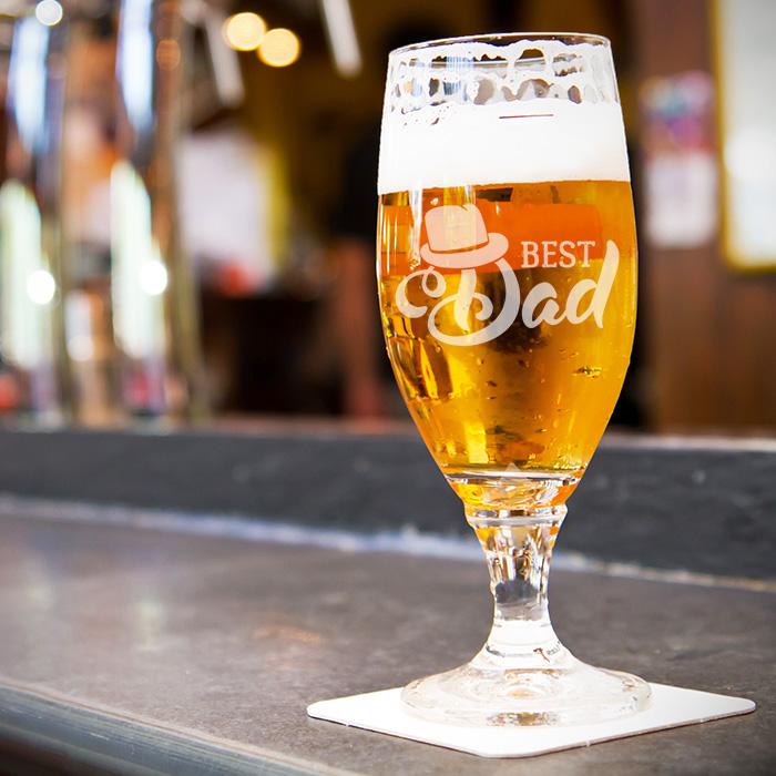 Bierglas graveren Vaderdag, Vaderdagcadeau persoonlijk bierglas